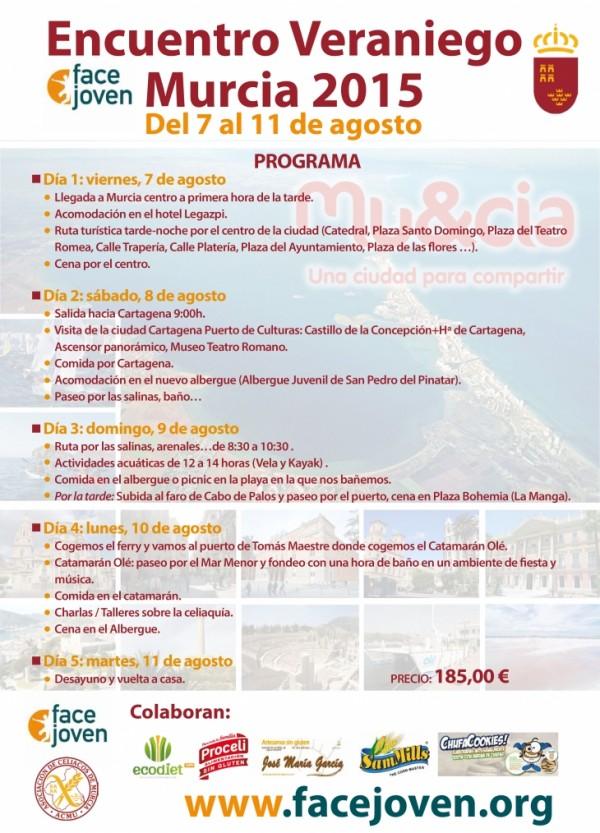 Programa III Encuentro veraniego Murcia 2015